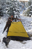 Het kamp van de winter Royalty-vrije Stock Afbeeldingen