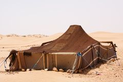 Het Kamp van de woestijn Stock Afbeeldingen