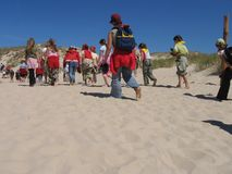 Het kamp van de zomer Stock Foto's