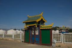 Het Kamp van Yurt bij de Woestijn van Gobi Royalty-vrije Stock Afbeelding