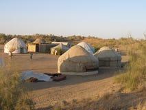 Het kamp van Yurt in Oezbekistan Royalty-vrije Stock Fotografie