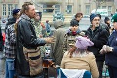 Het kamp voor de activisten van de Actie van het Klimaat stock foto
