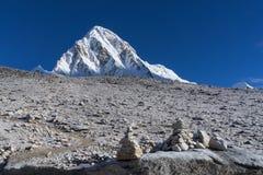 Het Kampebc Trekking van de Everestbasis in Nepal stock foto