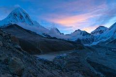 Het Kampebc Trekking van de Everestbasis in Nepal royalty-vrije stock fotografie