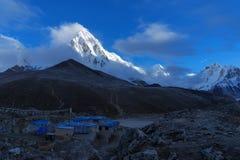 Het Kampebc Trekking van de Everestbasis in Nepal royalty-vrije stock foto