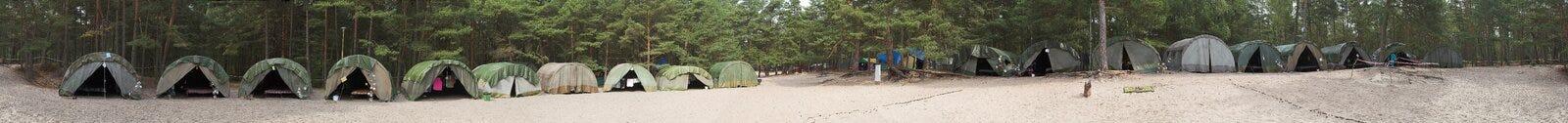 Het kampeerterrein van de verkenner Royalty-vrije Stock Afbeeldingen