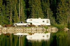 Het kamperen stock foto