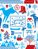 Het kamperen als thema gehade achtergrond Royalty-vrije Stock Afbeelding