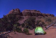 Het kamperen bij Bogen stock afbeeldingen