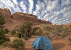 Het kamperen bij Bogen stock afbeelding