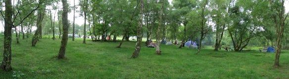 Het kamperen bij negen dames Royalty-vrije Stock Afbeelding