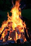 Het kamperen brand Royalty-vrije Stock Afbeeldingen