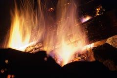 Het kamperen brand Stock Foto