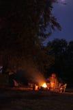 Het kamperen brand Stock Afbeelding