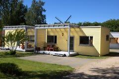 Het kamperen cabines Stock Foto's