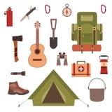 Het kamperen concept Stock Fotografie