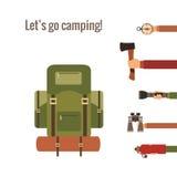 Het kamperen concept Royalty-vrije Stock Foto