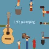 Het kamperen concept Royalty-vrije Stock Afbeelding