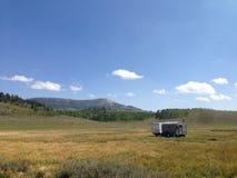 Het kamperen in de bergen van Utah Stock Foto