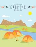 Het kamperen in de natuurlijke atmosfeer (Dag) Stock Foto