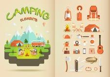 Het kamperen elementen Stock Foto's