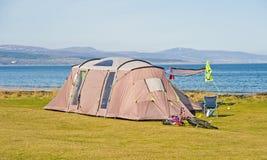 Het kamperen: Firth van Dornoch, Schotland. royalty-vrije stock afbeeldingen