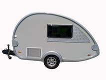 Het kamperen Geïsoleerdeg Aanhangwagen Royalty-vrije Stock Afbeeldingen