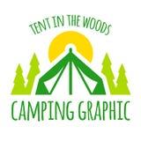 Het kamperen grafische tent Stock Fotografie
