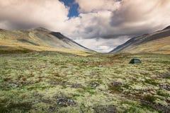 Het kamperen in het nationale park van Rondane stock afbeelding