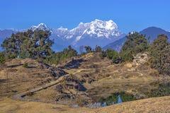 Het kamperen in Himalayagebergte stock foto