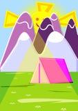 Het kamperen in hooggebergte vector illustratie