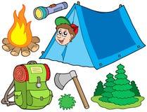 Het kamperen inzameling Stock Foto