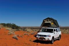 Het kamperen in Namibië Royalty-vrije Stock Foto's