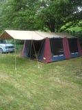 Het kamperen in Nieuw Zeeland royalty-vrije stock foto's