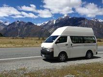 Het kamperen in Nieuw Zeeland stock afbeelding