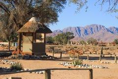 Het kamperen op het grondgebied van het Nationale Park van Sossusvlei afrika stock foto's