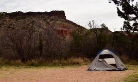 Het kamperen in Palo Duro Stock Fotografie