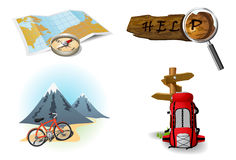 Het kamperen pictogrammen 2 stock illustratie