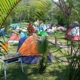 Het kamperen plaats royalty-vrije stock fotografie