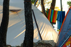 Het kamperen plaats Royalty-vrije Stock Afbeelding