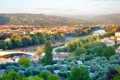 Het kamperen plaats in Florence Royalty-vrije Stock Foto
