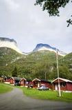 Het kamperen plaats, Noorwegen Royalty-vrije Stock Afbeeldingen