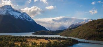 Het kamperen plaats in Torres del Paine, Patagonië Stock Fotografie