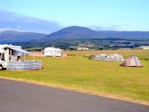 Het kamperen, Shell Island, Wales. stock afbeeldingen