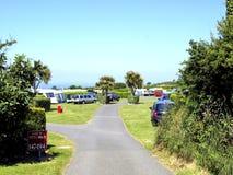 Het kamperen, St. Ives, Cornwall. royalty-vrije stock afbeelding