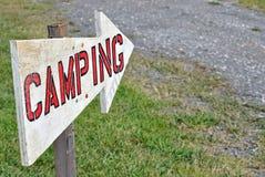 Het kamperen Teken Royalty-vrije Stock Foto