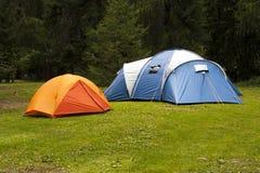 Het kamperen tenten Stock Afbeelding