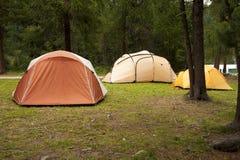 Het kamperen tenten Royalty-vrije Stock Foto's