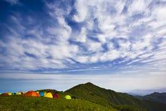 Het kamperen tenten Stock Fotografie