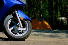 Het Kamperen van de motorfiets Stock Foto's